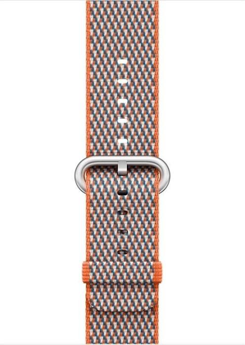 Apple Nylon-Armband kariert für Apple Watch 42mm orangerot (MQVP2ZM/A)