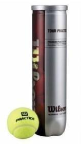 Wilson Tour Practice Balls 4-ball can (T1145)