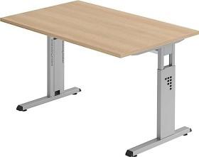 Hammerbacher Ergonomic O-Serie OS12/E, Eiche, Schreibtisch
