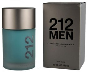 Carolina Herrera 212 Men Aftershave Lotion Splash, 100ml