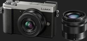 Panasonic Lumix DC-GX9 silber mit Objektiv Lumix G Vario 12-32mm OIS und 35-100mm OIS (DMC-GX9W)