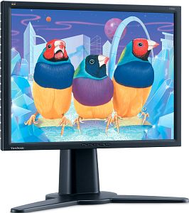"ViewSonic VP201b schwarz, 20.1"", 1600x1200, VGA, DVI"