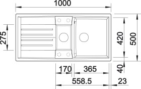 Blanco Lexa 6 S InFino anthrazit (524940)