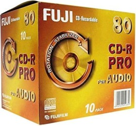Fujifilm CD-R 80min/700MB, 10-pack Slimcase