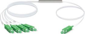 Ubiquiti UFiber optical fibre PLC splitter cable, G.657.A1, 1x SC-APC plug/4x SC-APC plug, 4m (UF-SPLITTER-4)