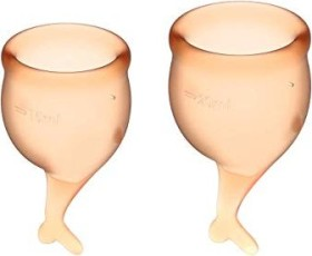 Satisfyer Feel Secure Set 15ml & 20ml Menstruationstasse orange, 1 Stück
