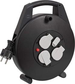 Brennenstuhl vario Line Box 3-way with USB-charging function, black, 10m (1093200600)