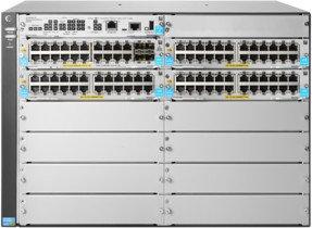 HP Aruba 5400R zl2 Rackmount Gigabit Managed switch, 92x RJ-45, 4x SFP+, 8x module slot, PoE+ (JL001A/5412R-92GT-PoE+/4SFP+)