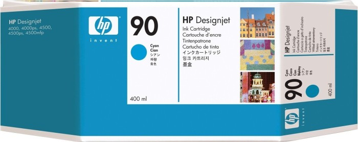 HP ink Nr 90 cyan 400ml (C5061A)
