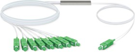 Ubiquiti UFiber optical fibre PLC splitter cable, G.657.A1, 1x SC-APC plug/8x SC-APC plug, 4m (UF-SPLITTER-8)