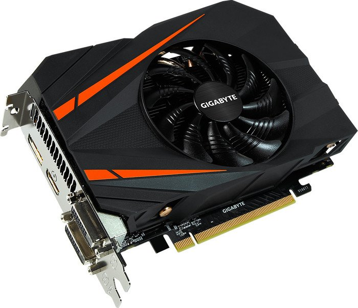Gigabyte GeForce GTX 1060 mini ITX 6G, 6GB GDDR5, 2x DVI, HDMI, DisplayPort (GV-N1060IX-6GD)