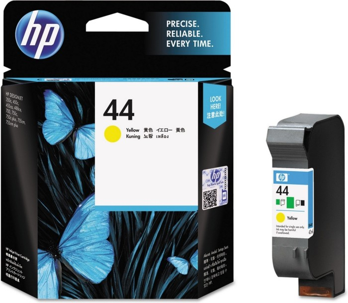 HP Printhead with ink 44 yellow (51644YE)