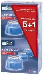 Braun CCR5+1 Clean&Renew cleaning cartridge (6-pack)