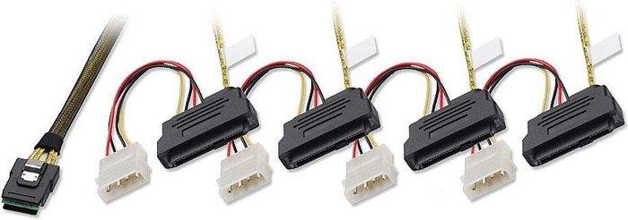 Lindy SFF-8087 on 4x SFF-8482 & 4-pol [IDE], 1m (33477)