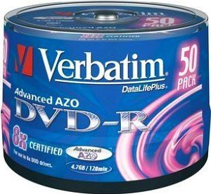 Verbatim DVD-R 4.7GB 8x, 50-pack Spindle (43476)