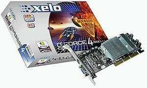 Xelo GeForce4 MX4000, 128MB DDR, VGA, TV-out, AGP
