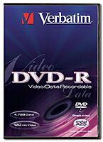 Verbatim DVD-R 4.7GB 2x, sztuk 1 (różne warianty)