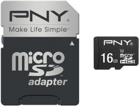 PNY Elite Performance R100 microSDHC 16GB Kit, UHS-I U3, Class 10 (SDU16G10ELIPER-EF)