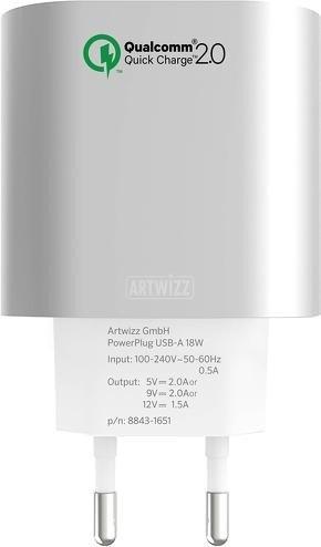 Artwizz PowerPlug USB-A 18W silber (8843-1651)