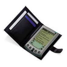 Palm P10443U Palm V slim wallet case - Black (Palm V,Vx,VxLE)
