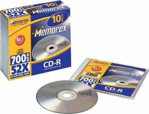 Memorex CD-R 80min/700MB, 10er-Pack -- via Amazon Partnerprogramm