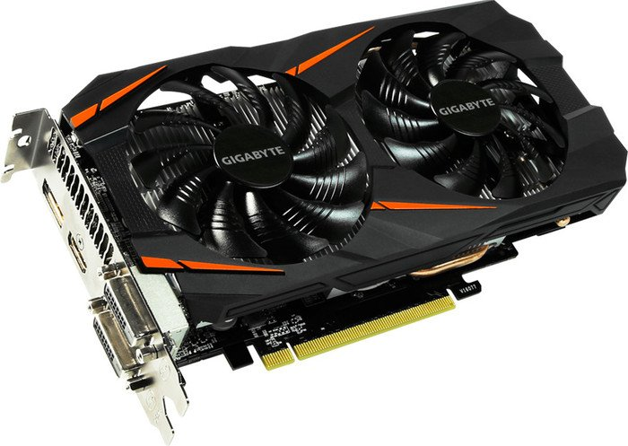 Gigabyte GeForce GTX 1060 Windforce OC 6G, 6GB GDDR5, 2x DVI, HDMI, DisplayPort (GV-N1060WF2OC-6GD)
