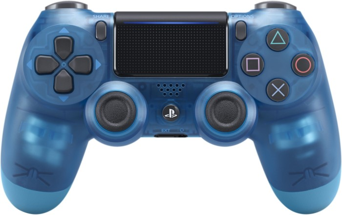 Sony DualShock 4 2.0 Controller wireless Crystal Edition transparent blau (PS4)