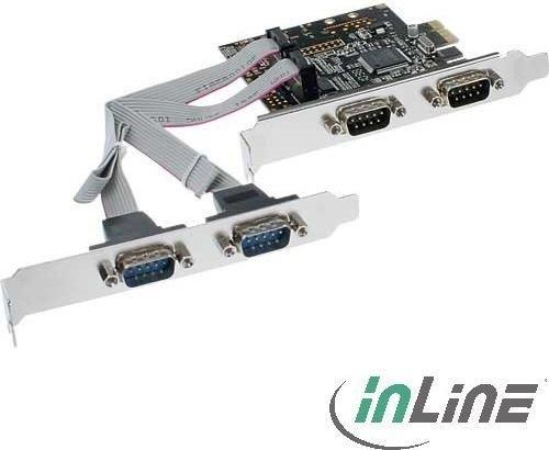 InLine 76623C, 4x Seriell, PCIe x1
