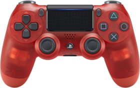 Sony DualShock 4 2.0 Controller wireless Crystal Edition transparent rot (PS4)