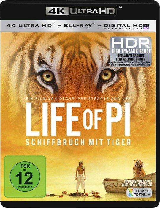 Life of Pi - Schiffbruch mit Tiger (4K Ultra HD)