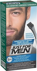 Combe Just for Men Bart und Schnurrbart Brush-In Gel Haarfarbe schwarzbraun, 28.4ml