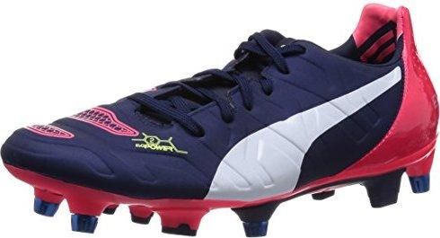 Puma evoPOWER 2.2 FG, Herren Fußballschuhe, Blau (peacoat-white-bright plasma 01), 42.5 EU (8.5 Herren UK)