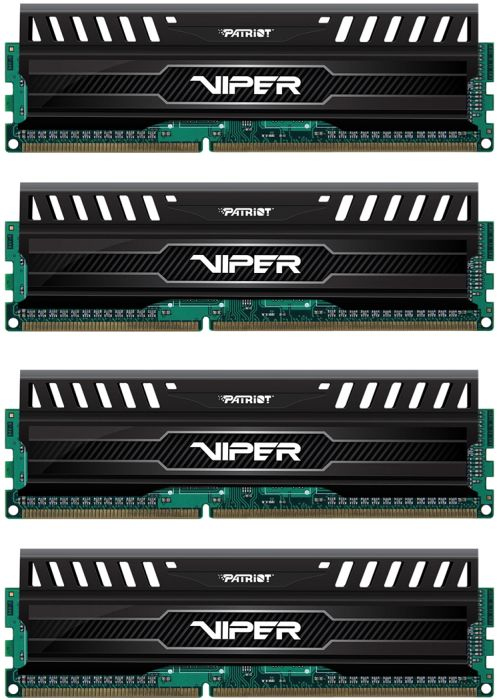 Patriot Viper 3 DIMM kit 32GB PC3-12800U CL9-9-9-24 (DDR3-1600) (PV332G160C9QK)