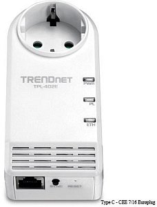TRENDnet Powerline AV TPL-402E, 500Mbps, Gb LAN