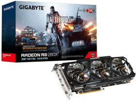 Gigabyte Radeon R9 280X Windforce 3X OC [Rev. 2.0] Battlefield 4 Edition, 3GB GDDR5, DVI, HDMI, 2x mDP (GV-R928XOC-3GD-GA)