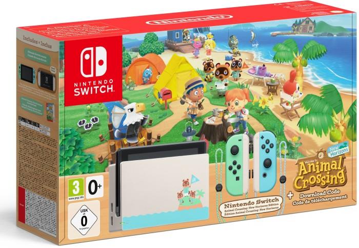Nintendo Switch - Animal Crossing: New Horizons Bundle schwarz/grün/blau