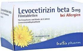 Levocetirizin beta 5mg Filmtabletten, 100 Stück