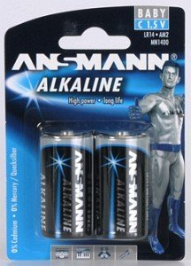 Ansmann Alkaline Baby C, 2er-Pack (5015151/5015152)