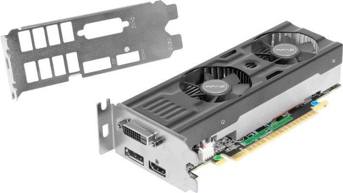 KFA2 GeForce GTX 1050 Ti OC LP, 4GB GDDR5, DVI, HDMI, DP (50IQH8DSP2MK)