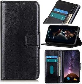 Wuzixi PU Leder Flip Wallet für OnePlus Nord schwarz