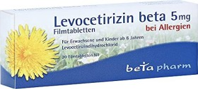 Levocetirizin beta 5mg Filmtabletten, 20 Stück