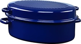 Riess goose roaster oval blue 38cm (0160-012)