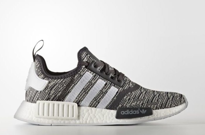 65aef0fbe26 adidas NMD R1 utility black footwear white medium grey heather solid grey  (ladies