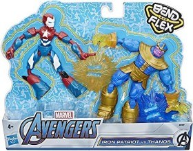 Hasbro Marvel Bend and Flex Iron Patriot vs. Thanos (E91975L0)