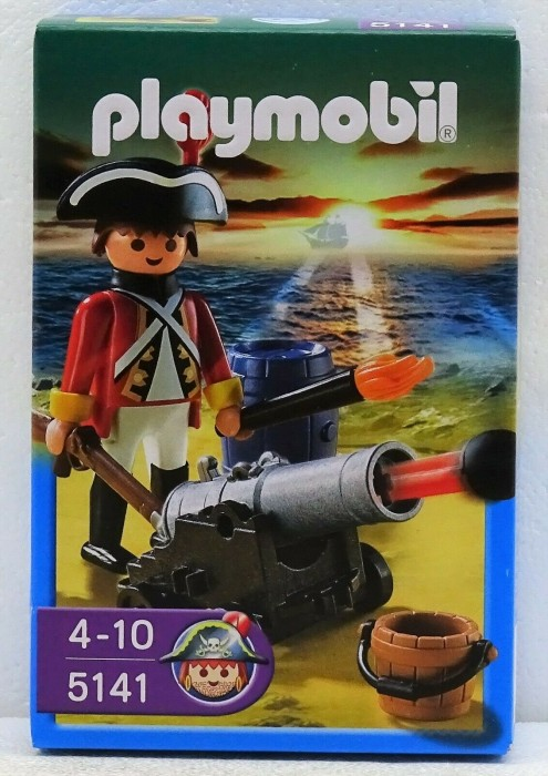 playmobil Pirates - Kanonen-Offizier der Rotröcke (5141) -- via Amazon Partnerprogramm