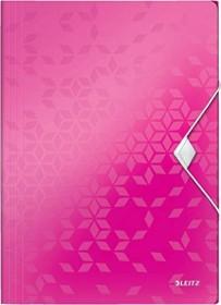 Leitz WOW Eckspannermappe A4, 150 Blatt, pink (45990023)