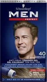 Schwarzkopf Men Perfect Anti-Grau Tönungs-Gel 40 Natur Dunkelblond, 80ml