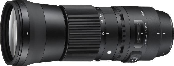 Sigma Contemporary AF 150-600mm 5.0-6.3 DG OS HSM inkl. 1.4x Telekonverter für Nikon F schwarz