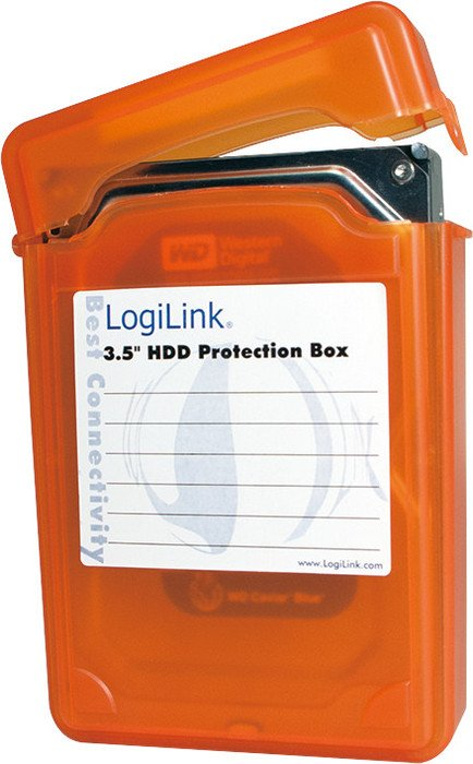 "LogiLink Hard Drives Protection-Box 3.5"", orange (UA0133O)"