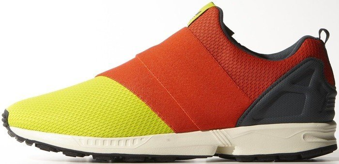 best sneakers f2122 819ee adidas ZX Flux Slip-On semi solar yellow hi-res red bold